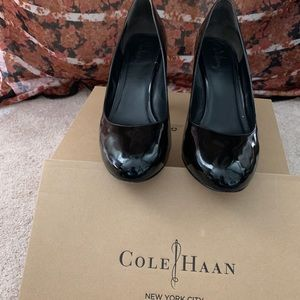 Cole Haan black patent leather pumps. Size 11